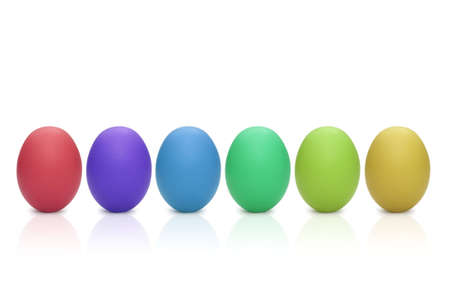 some: some colorful eggs for easter