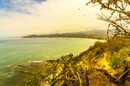 View over the Pacific in the state of Manab?, Ecuador, Machalilla National Park.