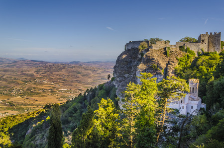 erice: From Mount San Juliano to seven hundred and fifty meters high you can see the geography of the island of Sicilian