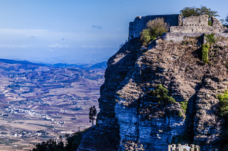 erice: Scenic view of the territory of the Italian island