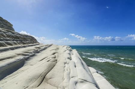 the turks: Beach scala dei turchi on the sicilian mediterranean