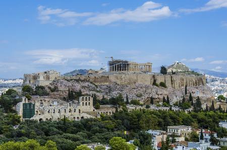 아테네의 전체 아크로 폴리스보기 스톡 콘텐츠 - 93878184