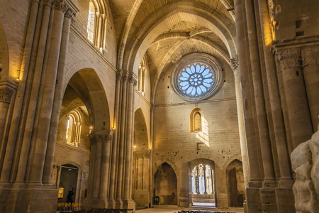 details of the interior of the cathedral La Seu Vella. lleida spain