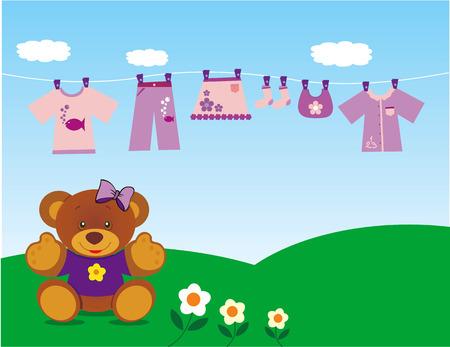teddy bear with clothes