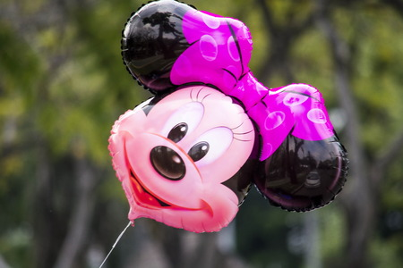 minnie mouse: Kasetsart University Bangkok Thailand 9 January 2015: Minnie Mouse Balloon at Commencement Ceremony of Kasetsart University