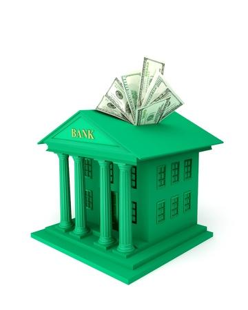 embedding: Illustration symbolizes the bank investments  Stock Photo