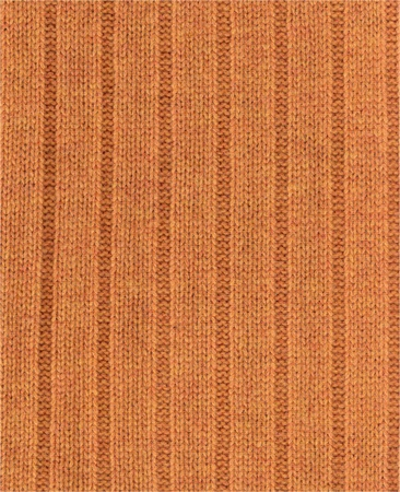 elastic band: Knitted texture Orange with a pattern- elastic band