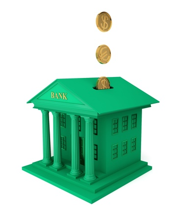 Illustration symbolizes the bank investments Stock Photo