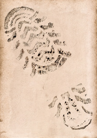 Imprint of the trace on a old background