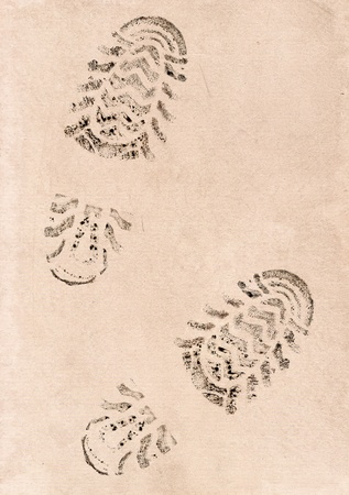 Imprint of the two traces on a old background