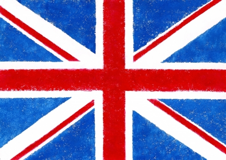 British flag in grunge style in the paper