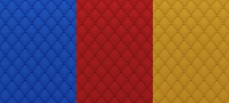 Background from colored textile quilted texture Stock Photo
