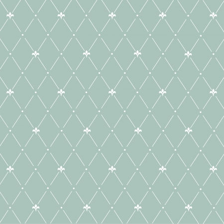 Seamless pattern: symmetrically placed lily on a gray background