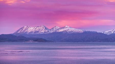 Beagle Channel. Ushuaia. Argentina. Sunrise Sunrise Stock Photo