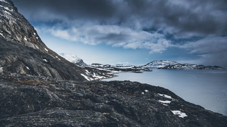 Mountains in Nuuk, Greenland. May 2014