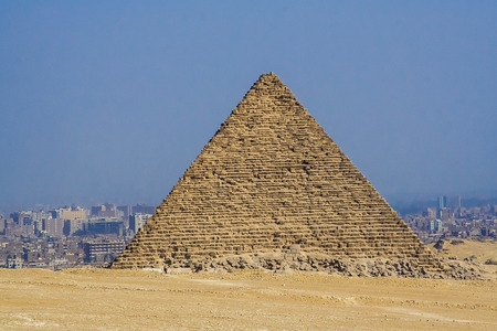 historical sites: Mysterious Egyptian pyramids in historical sites, ancient monuments of humanity, the pharaohs. The ruins of antiquity, travel and tourism. Stock Photo