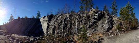 Marble panorama of the career of the Northern territory. Zdjęcie Seryjne