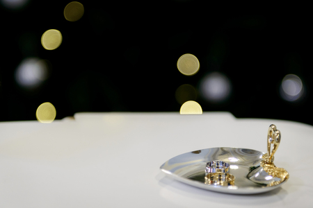 A Wedding Ring Is A Symbol Of Love And Happiness Stock Photo
