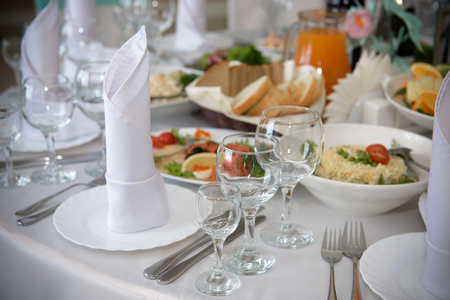 A rich luxurious meal in the restaurant.