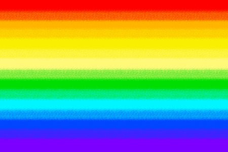 Rainbow pride flag - the banner of freedom of homosexuals. Stock Photo