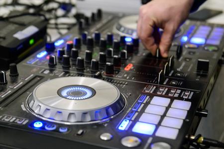 Audio equipment for professional DJs. Foto de archivo - 123900157