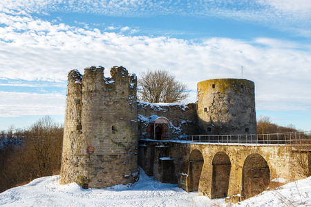 The fortress in Koporye was founded in 1237 - is located in the Leningrad region of St. Petersburg, Russia.