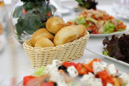 Cold Appetizers with a variety of food on the table.