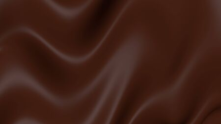 Chocolate liquid 3D.