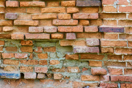 Background of an Old red brick wall.