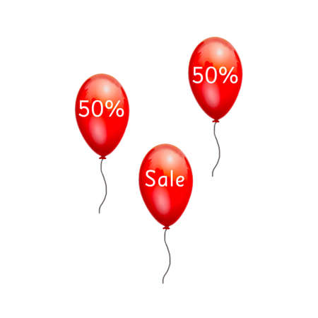 Discounts on products on red gel balls.