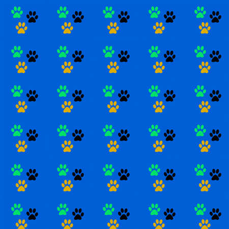 Prints paw prints the cat. Reklamní fotografie