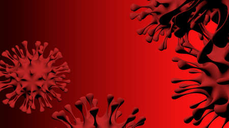 A dangerous pathogenic Covid virus that causes pneumonia. Reklamní fotografie