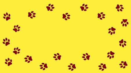Footprints walking animal Cartoon comic funny paws. Reklamní fotografie