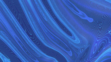Abstract motion of a blue mass of thin matter.