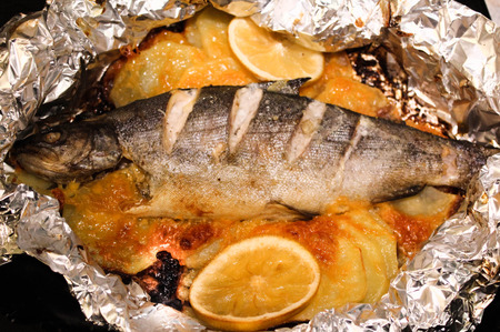 baked: baked trout
