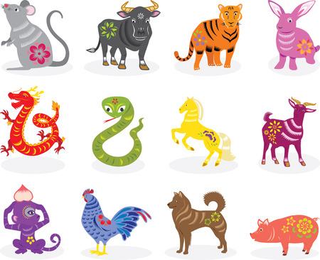 chinese zodiac signs Illustration