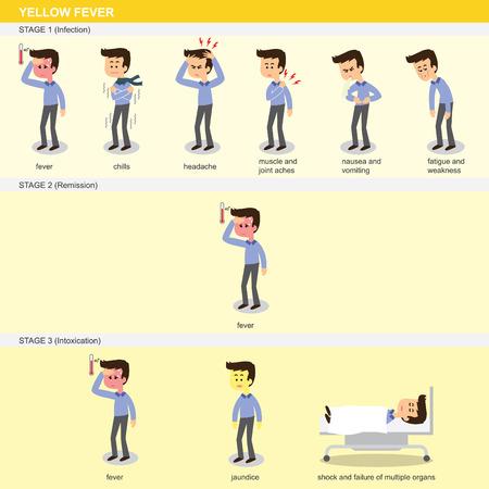 gele koorts symptomen drie fasen
