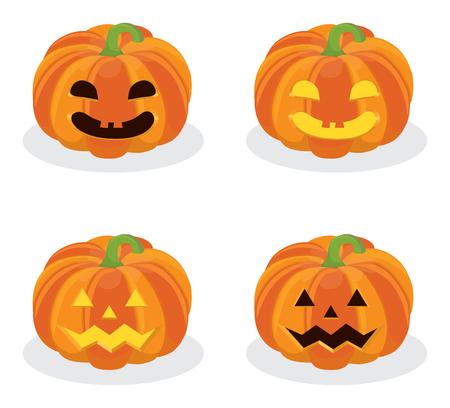 Scary Jack O Lantern Halloween Kürbis Mit Kerze Licht Im Inneren Auf ...