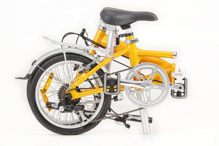 city small folding bicycle under the white background Standard-Bild