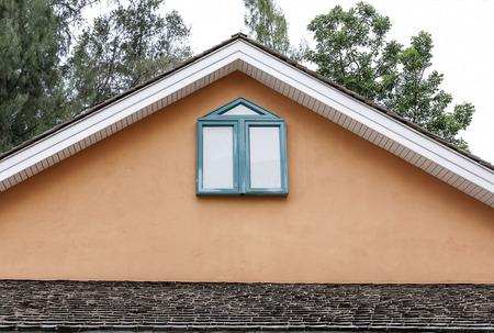 brandenburg home ownership: gable of the house Stock Photo