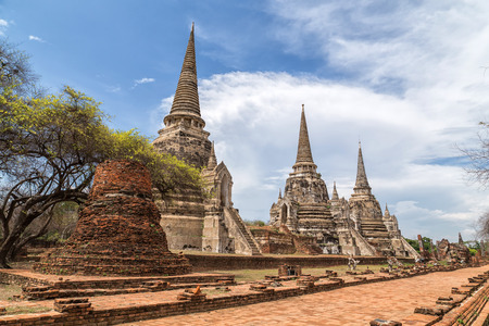 temple in Ayutthaya province, Thailand photo