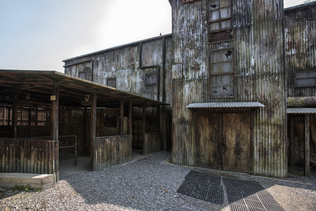 disused: Outside disused warehouse