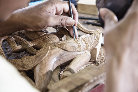 woodwork: woodwork workshop in cambodia Stock Photo
