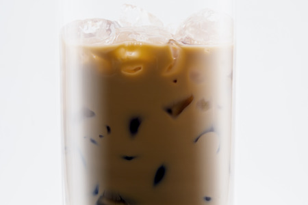icecube: Close up of iced coffee  in glass