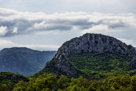 Tropical limestone mountains.