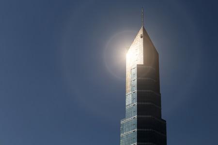 reflect: Modern business buildings reflect sunlight
