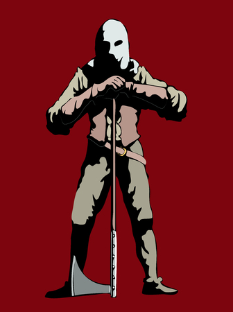 The executioner ancient killer Stock Illustratie