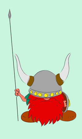 The Dwarf warrior cartoon Vikings character