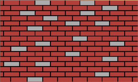 Vector - Illustration of Brick wall background