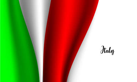 Vector -  Illustration of  Flag of Italy